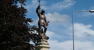 Aspatria statue