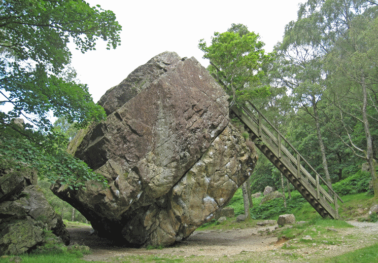 The Bowder Stone in the Lake District