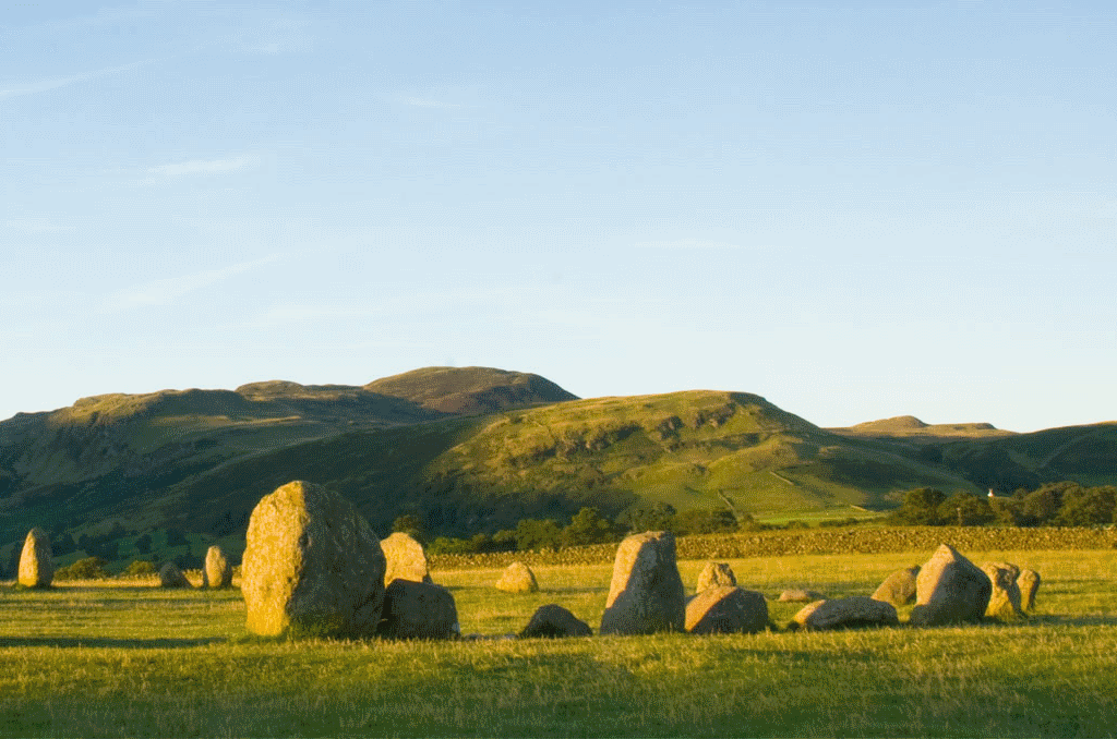 Castle Rigg stone circle in Allerdale