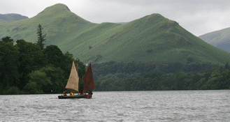 Keswick in the Lake District derwentwater boating
