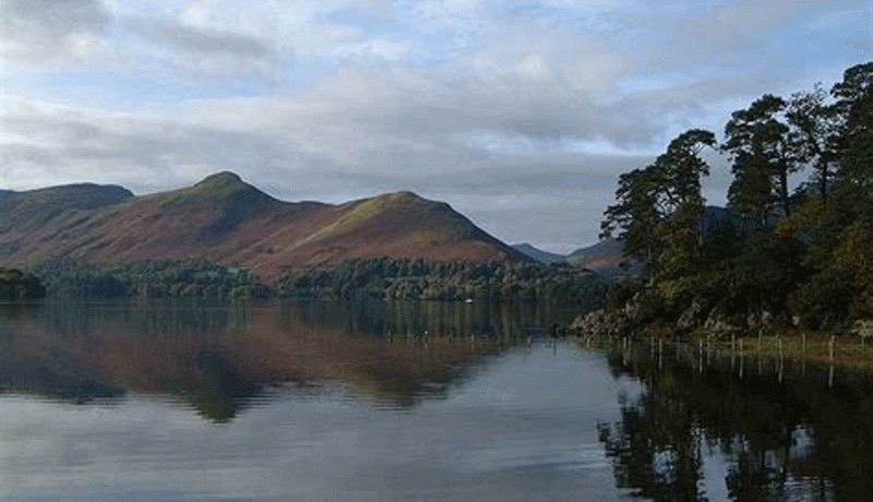 Catbells mountains in the Lake District