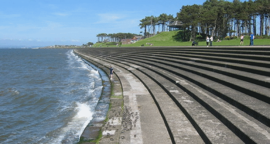 Silloth promenade in Allerdale