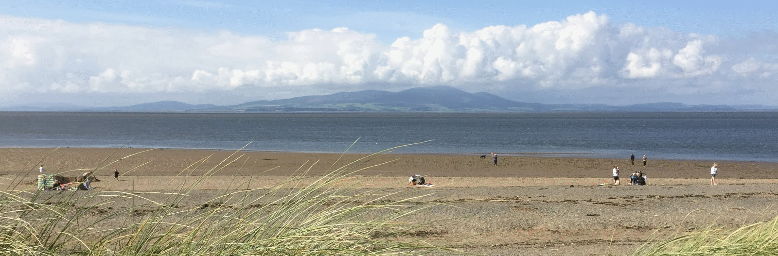 Silloth beach in Cumbria